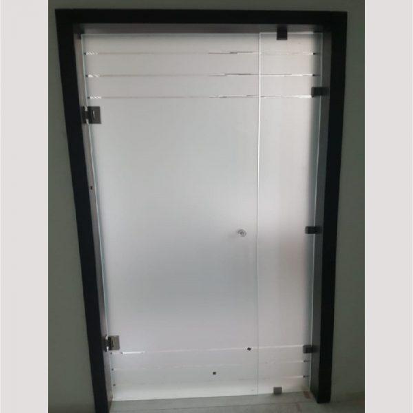 Porte en verre sécurite intérieur sablé